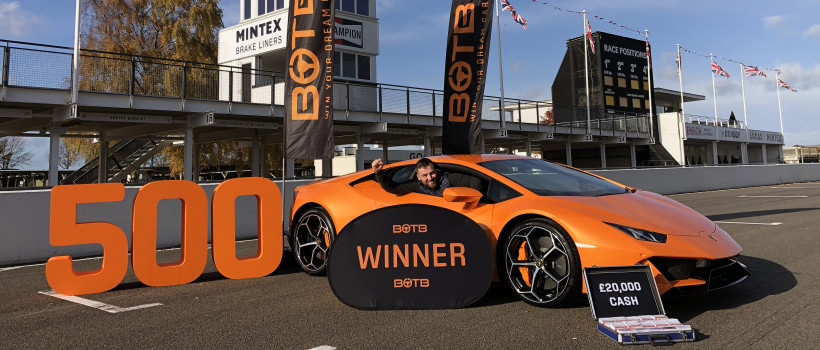 Former firefighter bags £200,000 supercar as he becomes dream car competition's 500th winner