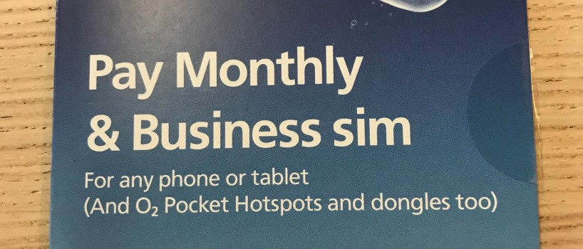 Unlimited data from O2
