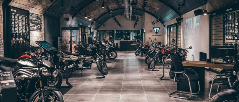 Triumph's incredbile new London flagship store