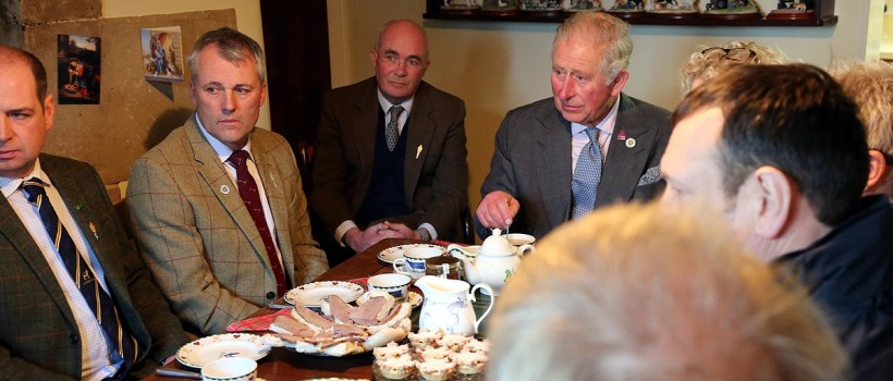 HRH The Prince of Wales shows support for farmers affected by flooding