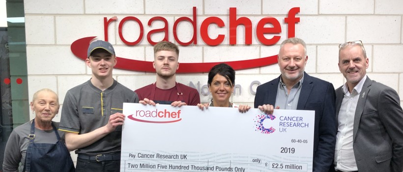 Roadchef smashes charity fundraising targets