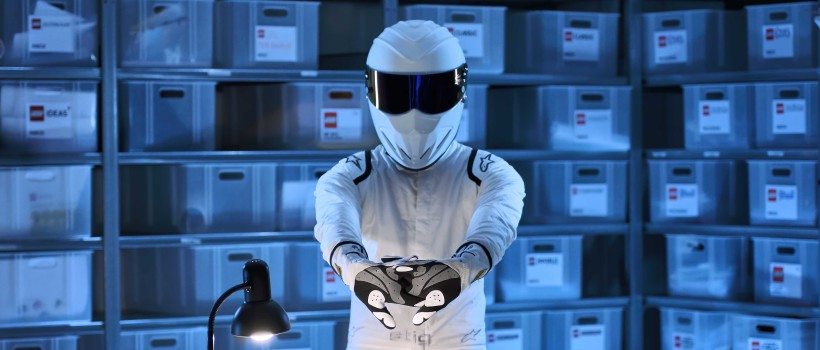 Spotted!   Top Gear's Stig dodges security at LEGO HQ