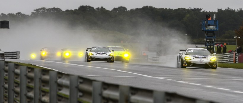 Wet and wild action as British GT title race goes down to the wire