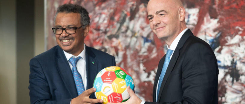 FIFA and WHO #ACTogether to tackle COVID−19