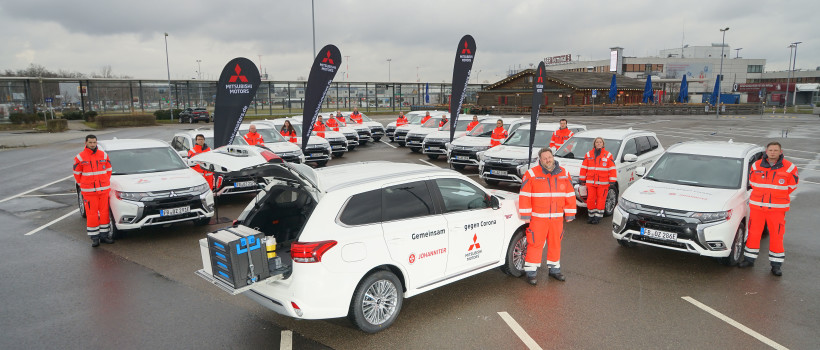 Falken donates tyres to the Johanniter-Unfall-Hilfe Coronavirus vaccination and testing teams
