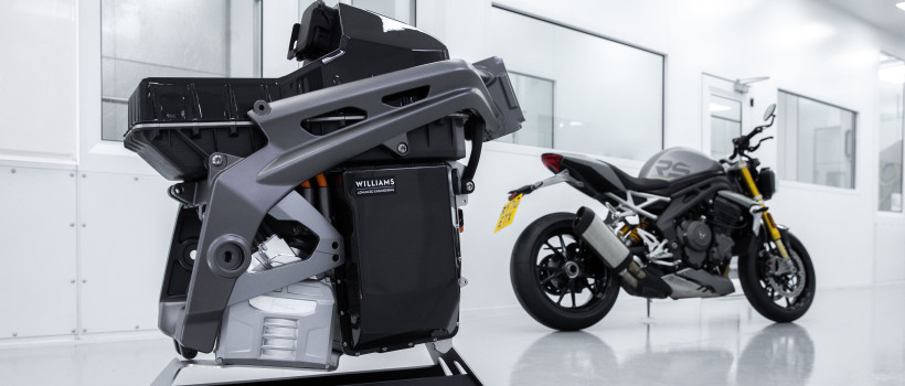 Project Triumph TE-1 e-powertrain revealed, Williams Advanced Engineering (WAE) developed advanced battery system sets new standards for electric motorcycles