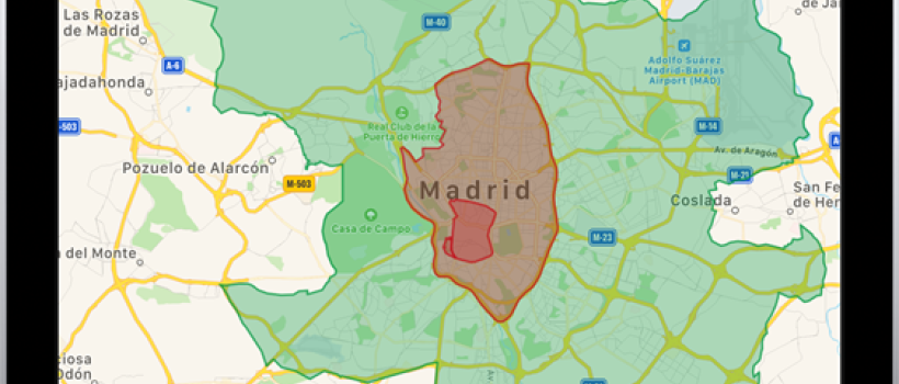 Christmas driving ban Madrid