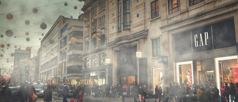 First Mile Releases Image of Air Pollution Damage to Oxford Street.