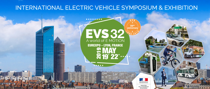 AVERE AND LIVE! BY GL EVENTS ANNOUNCE THE 32nd INTERNATIONAL ELECTRIC VEHICLE SYMPOSIUM (EVS32) IN LYON FROM 19 TO 22 MAY 2019