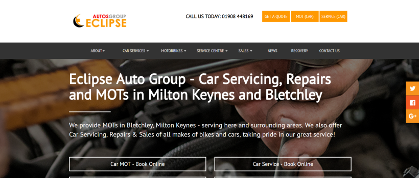Auto Repair Shop, Eclipse Autos in Milton Keynes, Announces New Services